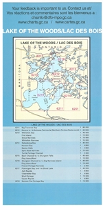 Picture of Lake of the Woods - Ptarmigan Bay, Shoal Lake & Northwestern Channels Nautical Chart (#6217)
