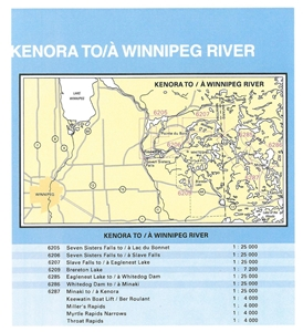 Picture of Lake of the Woods - Winnipeg River - Minaki To Kenora Nautical Chart (#6287)