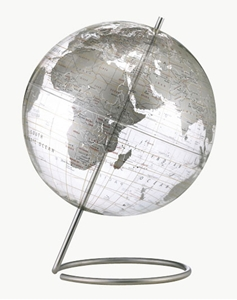 "Picture of Crystal Marquise 12"" World Globe"