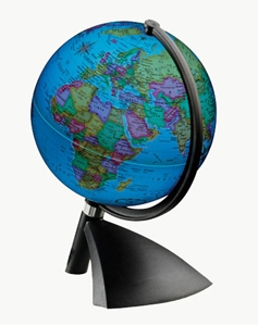 "Picture of Terenne 6""  Illuminated World Globe"