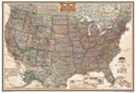 "Picture of National Geographic USA Wall Map - (United States Map) - Antique Style - Size 69"" x 48"""