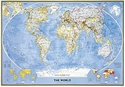"Picture of National Geographic World Wall Map - (World Map) - Blue Ocean Style - Size 69"" x 48"""