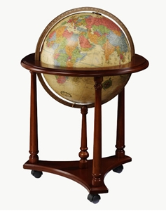 "Picture of Lafayette 16"" Antique Ocean Illuminated World Globe"