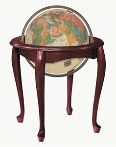 "Picture of Queen Anne 16"" Illuminated World Globe"