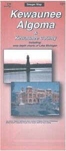Picture of Kewaunee & Algoma Wisconsin Folded Street Map