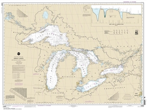 Picture of 14500 - Great Lakes Nautical Chart