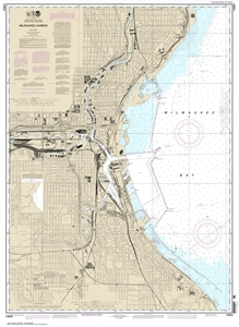 Picture of 14924 - Milwaukee Harbor Nautical Chart
