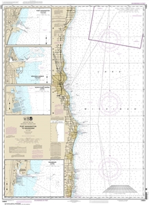 Picture of 14904 - Port Washington To Waukegan Nautical Chart