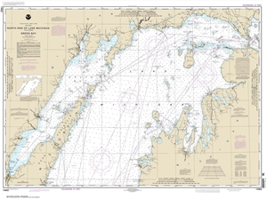 Picture of 14902 - North End of Lake Michigan, Including Green Bay Nautical Chart