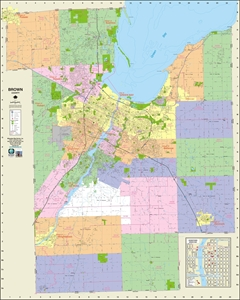 Themapstore Wisconsin County Wall Maps
