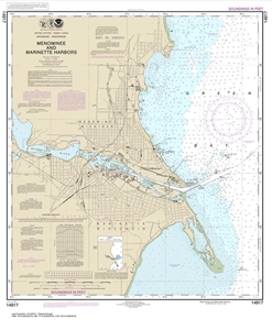 Picture of 14917 - Menominee And Marinette Harbors Nautical Chart