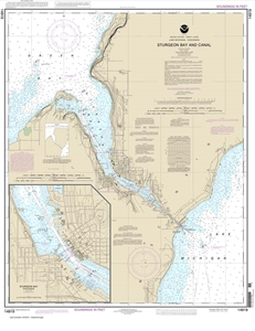 Picture of 14919 - Sturgeon Bay And Canal Nautical Chart