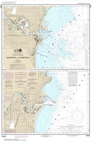 Picture of 14922 - Manitowoc And Sheboygan Harbors Nautical Chart