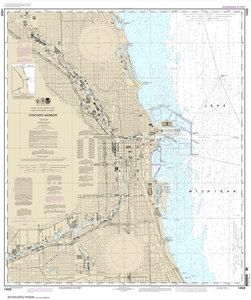 Picture of 14928 - Chicago Harbor Nautical Chart