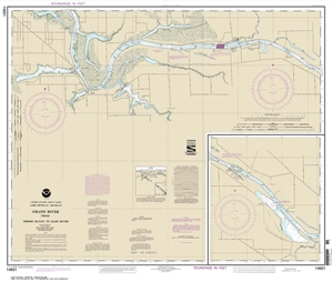 Picture of 14931 - Grand River From Dermo Bayou To Bass River Nautical Chart