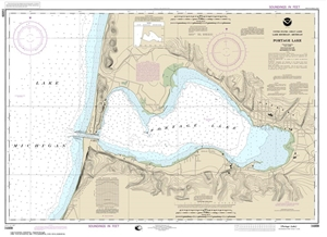 Picture of 14939 - Portage Lake Nautical Chart