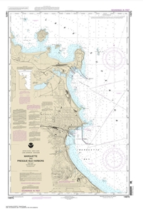 Picture of 14970 - Marquette And Presque Isle Harbors Nautical Chart