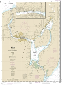 Picture of 14972 - Keweenaw Waterway, Including Torch Lake Nautical Chart