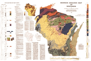 Picture of Bedrock Geologic Map of Wisconsin