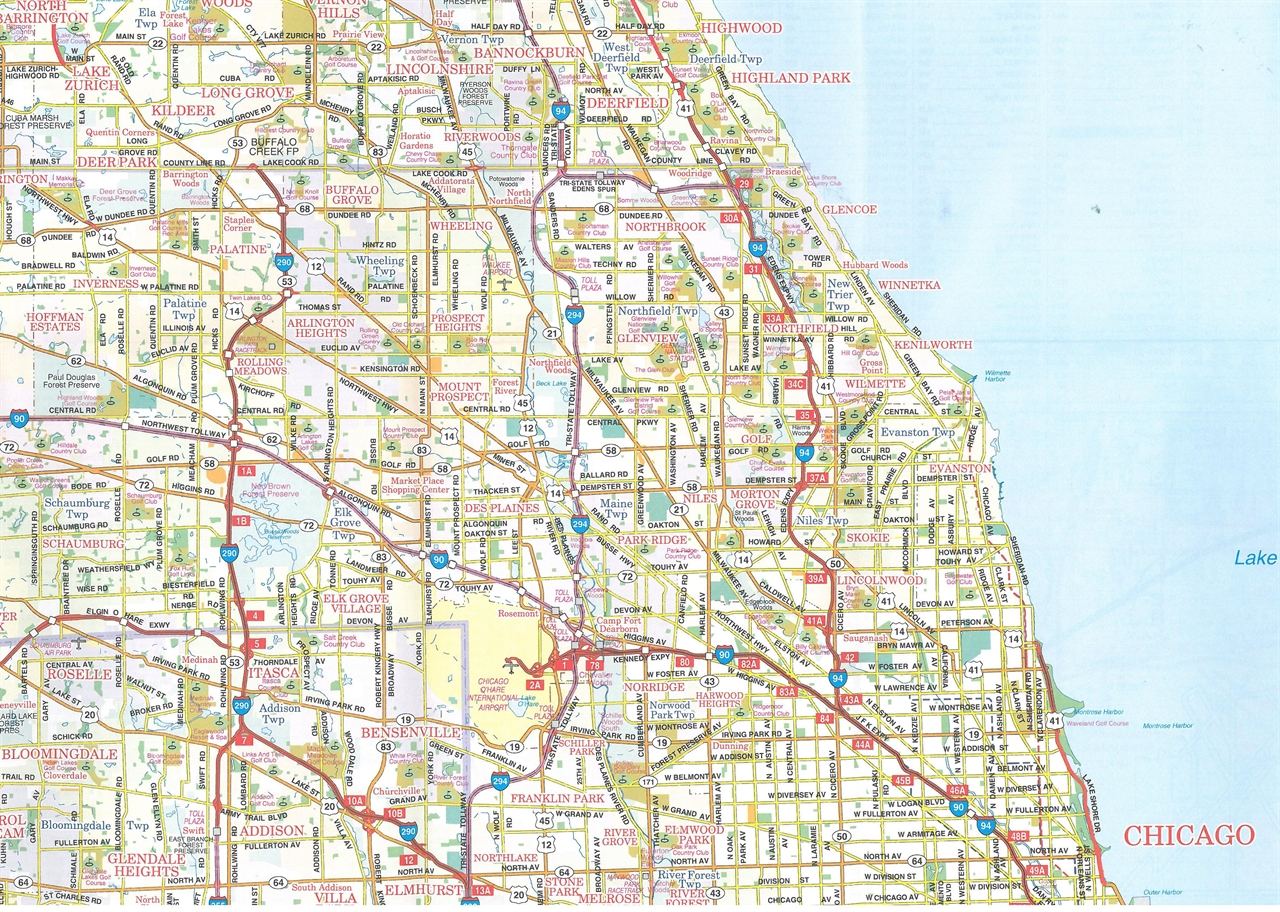 Road Map Of Chicago Images