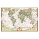 """Picture of National Geographic World Wall Map - (World Map) - Antique Style - Size 110"""" x 76"""""""