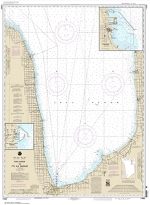 Picture of 14862 - Port Huron To Pte Aux Barques Nautical Chart