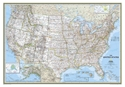 """Picture of National Geographic USA Wall Map - (United States Map) - Blue Ocean Style - Size 43"""" x 30"""""""