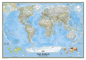 Picture of National Geographic World Wall Map - (World Map) - Blue Ocean Style