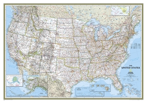 Picture of National Geographic USA Wall Map - (United States Map) - Blue Ocean Style