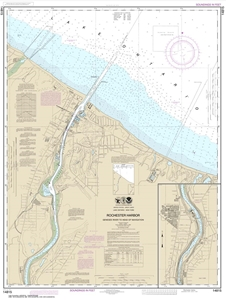 Picture of 14815 - Rochester Harbor, Including Genesee River To Head of Navigation Nautical Chart