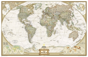 Picture of National Geographic World Wall Map - (World Map) - Antique Style