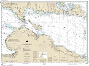 Picture of 14880 - Straits of Mackinac Nautical Chart