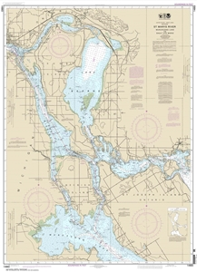 Picture of 14883 - St. Marys River - Munuscong Lake To Sault Ste. Marie Nautical Chart