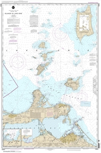 Picture of 14844 - Islands in Lake Erie Nautical Chart