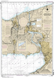 Picture of 14822 - Approaches To Niagara River And Welland Canal Nautical Chart