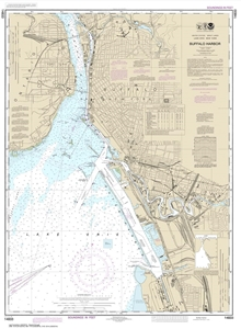 Picture of 14833 - Buffalo Harbor Nautical Chart