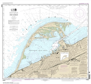 Picture of 14835 - Erie Harbor Nautical Chart