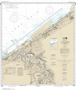 Picture of 14839 - Cleveland Harbor, Including Lower Cuyahoga River Nautical Chart