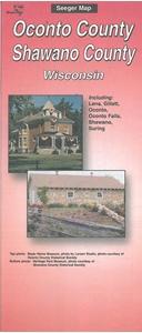 Picture of Oconto County & Shawano County Wisconsin Folded Street Map