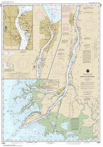 Picture of 14852 - St. Clair River Nautical Chart