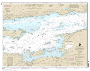 Picture of 14771 - St. Lawrence River - (Butternut Bay, Ontario To Ironsides Island, NY) Nautical Chart