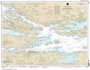 Picture of 14772 - St. Lawrence River - Ironsides Island, NY To Bingham Island, Ontario Nautical Chart