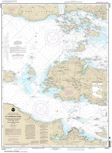 Picture of 14774 - St. Lawrence River - Round Island, NY And Gananoque, Ontario To Wolfe Island, Ontario Nautical Chart