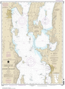 Picture of 14782 - Lake Champlain - Cumberland Head To Four Brothers Islands Nautical Chart