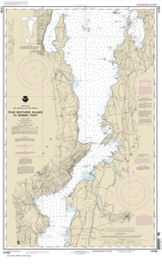 Picture of 14783 - Lake Champlain - Four Brothers Islands To Barber Point Nautical Chart