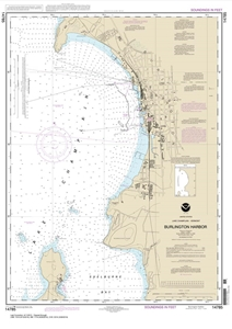 Picture of 14785 - Lake Champlain - Burlington Harbor Nautical Chart
