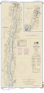 Picture of 12348 - Hudson River - Coxsackie To Troy Nautical Chart