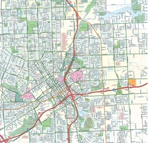 Picture of Flint & Genesee County Michigan Street Map