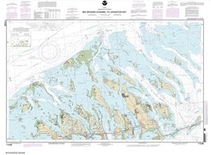 Florida Intracoastal Waterway Map.11448 Intracoastal Waterway Big Spanish Channel To Johnston Key Nautical Chart