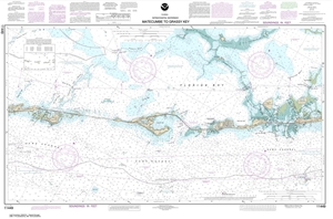 Picture of 11449 - Intracoastal Waterway - Matecumbe To Grassy Key Nautical Chart